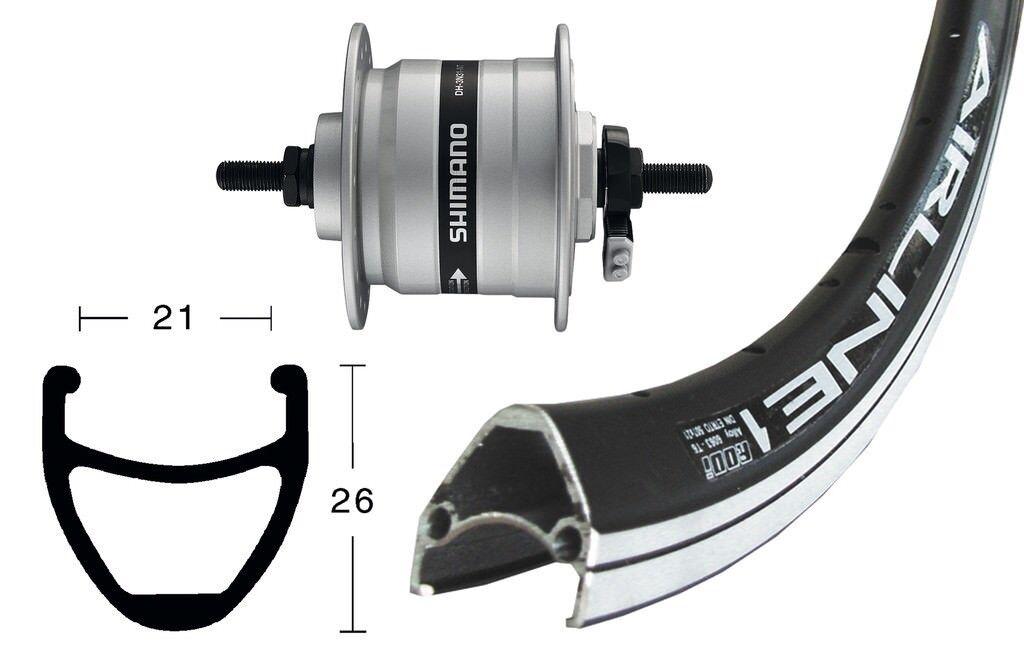 Bike-Parts 28″ Front Wheel Rodi Airline 1 + Hub Dynamo Shimano Dh-C3003