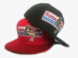 Bubba-Gump-Shrimp-Co-Snapback-Hat-Costume-Flat-Peak-Forrest-Gump
