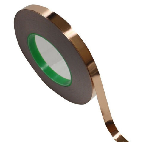 1 Roll Double sides Conductive 10mmx30M Copper Foil Tape 0.39inch x 33yards