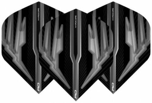 Hardcore Standard F6324 Black /& Grey #RD036 Red Dragon Dart Flights 1 Satz