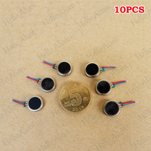 10PCS 10mm*3mm DC 3V Micro Button-type Coin Flat Vibrating Vibration Mini Motor