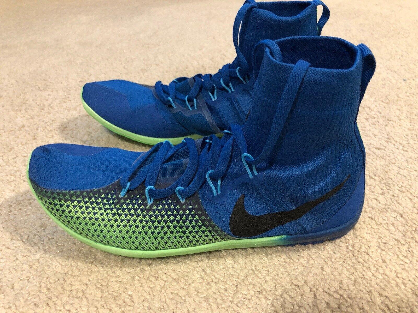 NWOB Nike Zoom Victory XC 4 Track Cross Country Spike Men's 10 bluee Green
