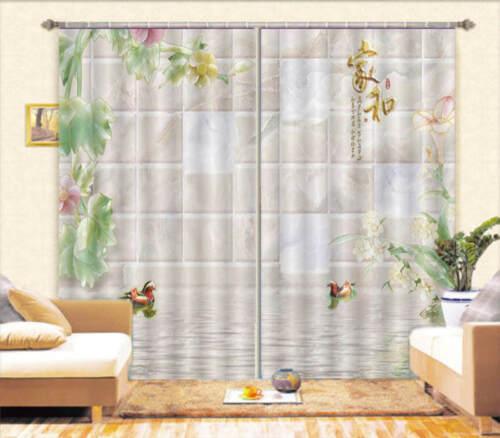 Domestic Peace 3D Blockout Photo Curtain Print Curtains Fabric Kids Window