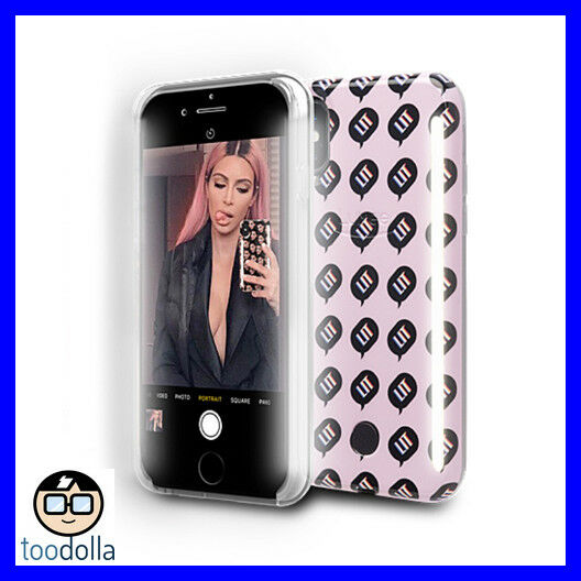 new product 31421 744e9 LuMee Duo Kimoji Lit selfie case, front and back lights for iPhone X / XS,  Pink