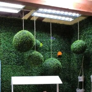 Details About Artificial Plastic Hanging Green Gr Ball Plant Home Garden Wall Decor 12 30cm