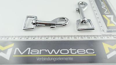 Ausdrucksvoll 10 Stück Karabinerhaken 20mm X 76mm Mit Geradem Wirbel Zinkdruckguss Verchromt
