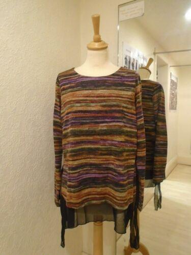 Peruzzi Multi Coloured Knit Tie Side Detail Top W19405