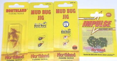 """Northland Tackle Impulse 2/"""" Sumo Worm Jig Trailers Hot Chartreuse-10//Bag"""