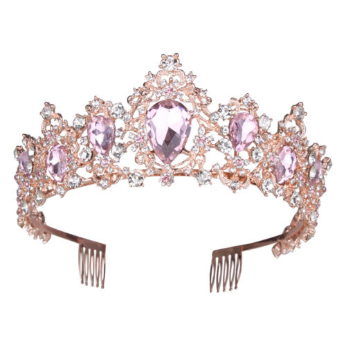 Baroque Queen Crown for Women Rhinestone Wedding Crown Tiara Costume Party Prom