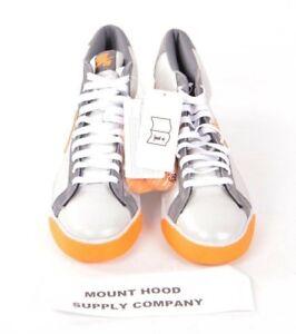 2008-NWOB-MENS-NIKE-SB-BLAZER-MID-SHOES-9-Medium-Grey-Shock-Orange-skater