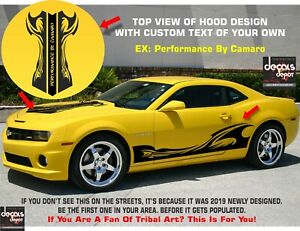 2X-Custom-Decal-Vinyl-Tribal-Stripes-Fits-Chevy-Camaro-SS-2D-Coupe-Sports-2L-LT