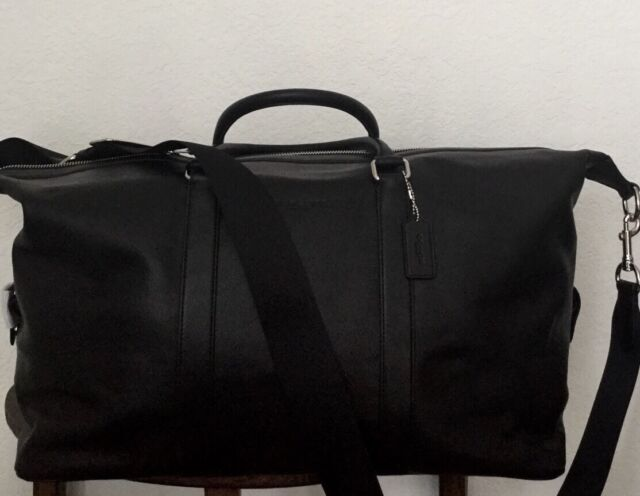 Coach Mens Leather Explorer 52 Duffle In Black Large F93469 F54802 Nwt Msrp 795
