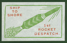 1934 INDIA rocket stamp Ship to Shore signed Stephen H. Smith EZ 1A1