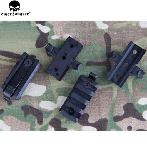 Tactical FAST Helmet Gadgets Plastic Mount Set Airsoft Rail Picatinny Clamp Rack