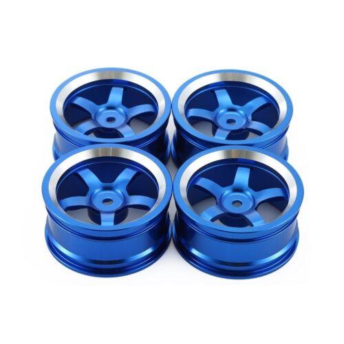 1//10 Onroad Rc Car Aluminium Alloy Wheels Rims For Tamiya tt01 tt01e tt02 Ta02