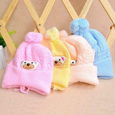 Warm Winter Baby Infant Toddler Beanie Hat Kids Boys Girls Crochet Knit Cap
