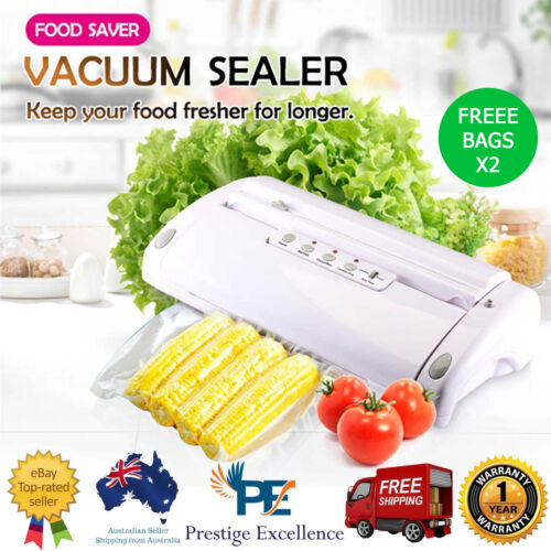 Maxkon Vacuum Food Saver Preservation Heat Sealer Storage with Free 3M Bag Rolls