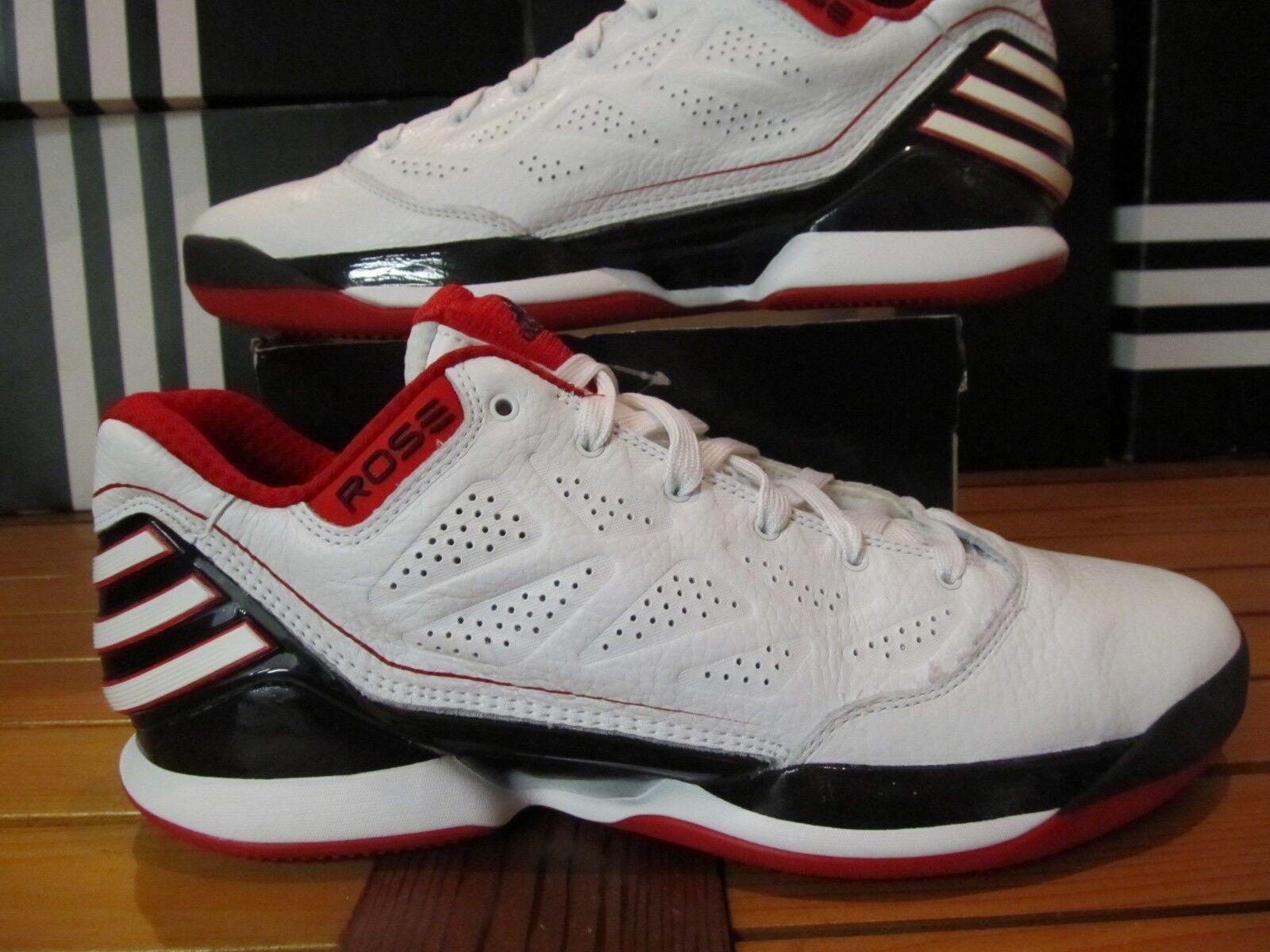 02e1f2cbe45 Adidas Rose 2.5 2.5 2.5 Lo Black White Red 11.5 G56190 9 8 Chicago Bulls D