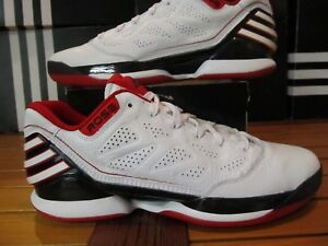 competitive price 8b3da 4cf02 Image is loading Adidas-Rose-2-5-Lo-Black-White-Red-