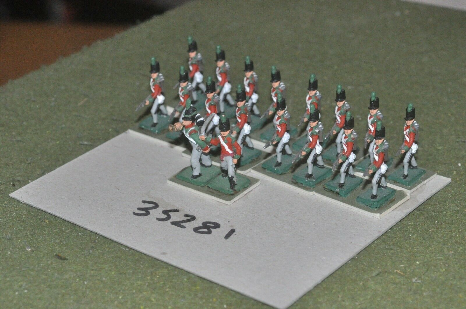 25mm napoleonic   british - light 18 figures - inf (35281)
