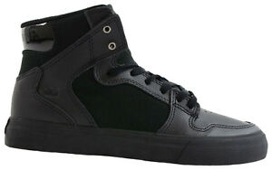 Supra Vaider Kinderschuhe Sneaker Gr. 32 schwarz Leder Skater Jungen Boots NEU