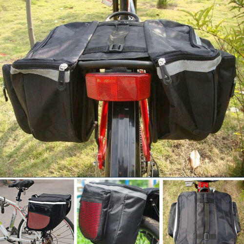 Bicycle Rear Rack Seat Saddle Bag BikeTail Storage Pannier Pouch Large Capacity