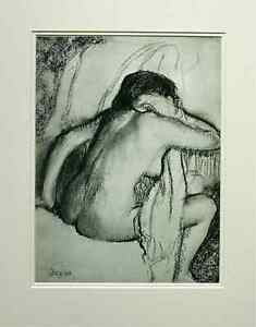 Edgar-Degas-heliogravure-039-Baigneuse-s-039-essuyant-039-1933-Ed-Braun-amp-Cie-Mounted
