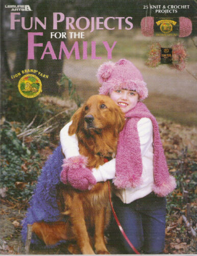 FUN PROJECTS FOR THE FAMILY~25 KNIT /& CROCHET PROJECTS
