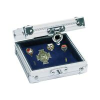 Compact Collectors Aluminium display case for medals, pins, badges etc