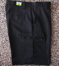 NWT Men's Izod XFG Cargo Golf Shorts  Black   38