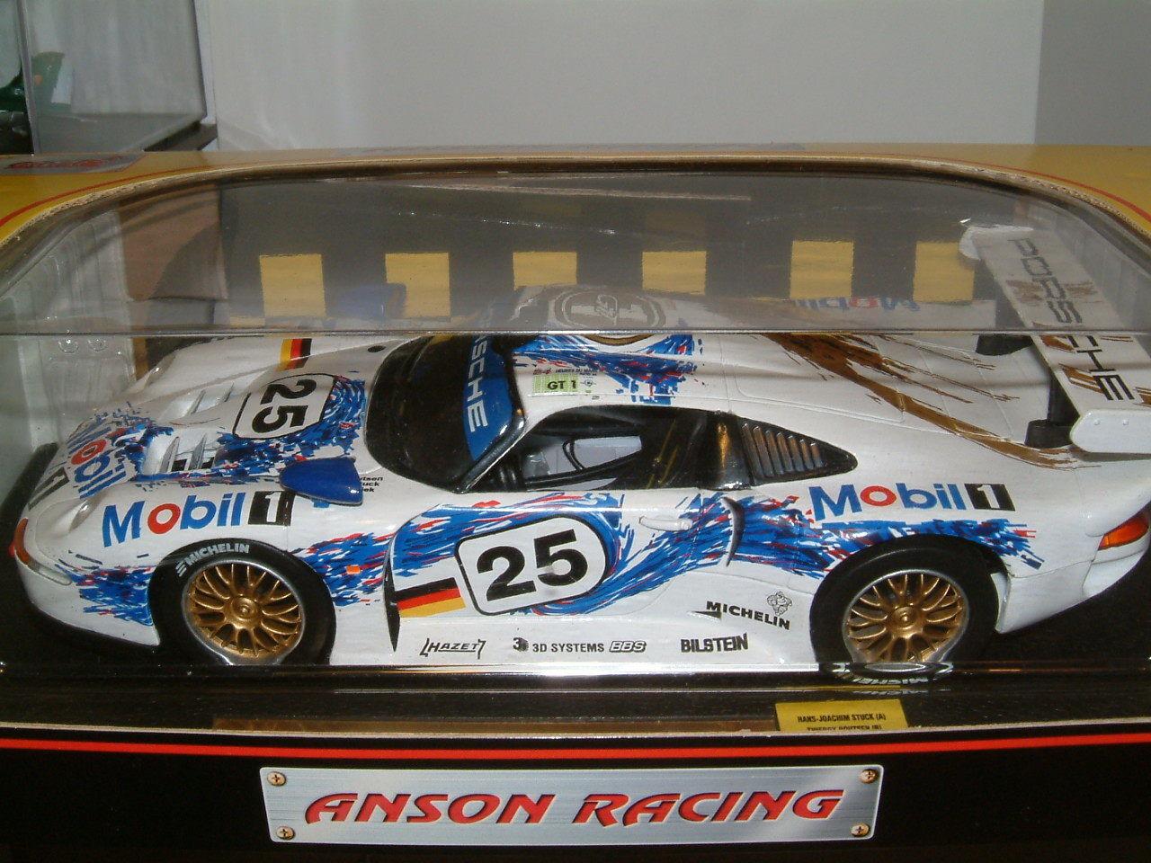1 18 ANSON PORSCHE 911 GT1 Le Mans, bloccato, Boutsen, Wollek.