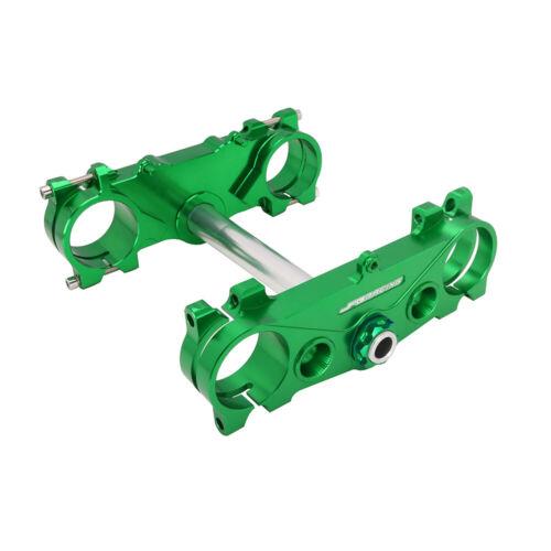 Upper Lower Triple Tree Clamps Steering Stem for Kawasaki KX250F KX450F KXF450