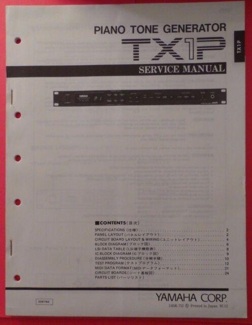 Yamaha TX1P Piano Tone Generator Rack Mount Module E51