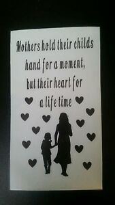 Vinyl Decal Sticker for Wine bottle Mother/'s day a mother holds her childrens