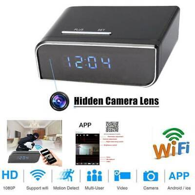 HD 1080P Surveillance Camera Motion Security Alarm Clock IR Nanny Camera DVR NVR