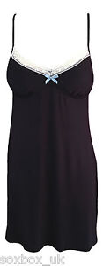 Ex-Rouge-Gorge-soft-slinky-Jersey-Chemise-Night-dress-with-bust-support