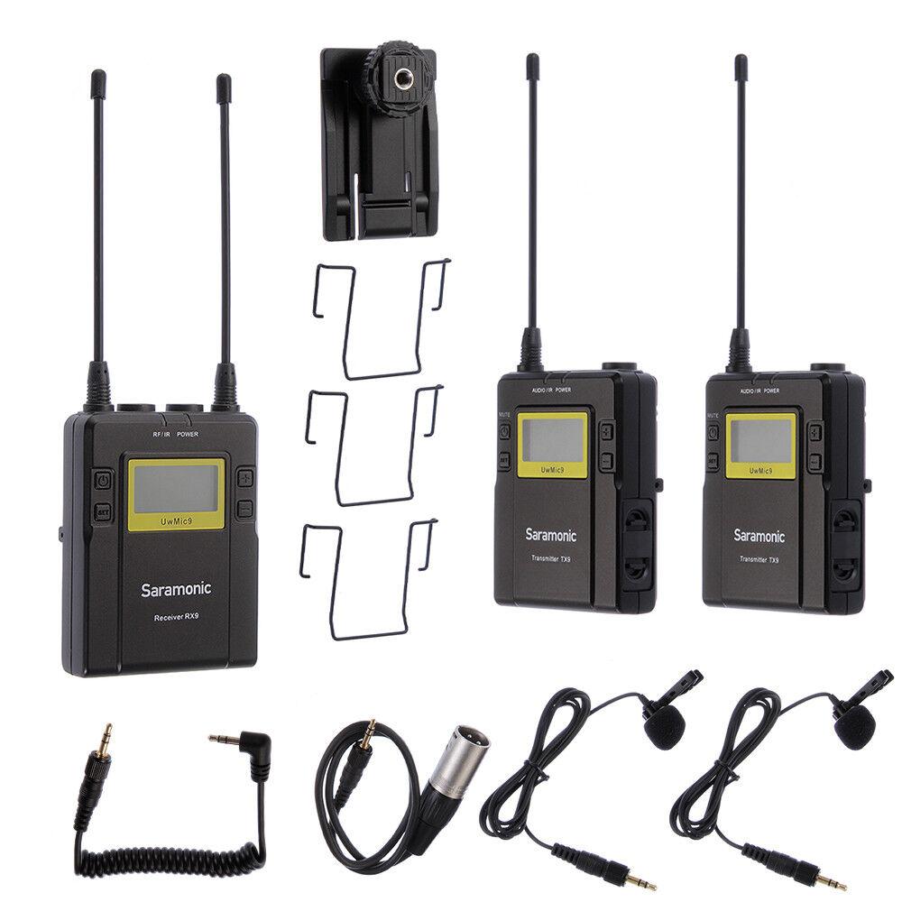 Saramonic Uw Mic9 Transmiter RX9 2 TX9 Receiver UHF Wireless Lavalier Microphone