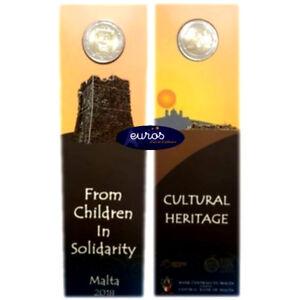 Coincard-2-euros-commemorative-MALTE-2018-Heritage-Culturel-UNC-20-000-ex