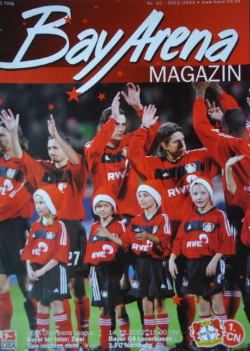 Programm 2002//03 Bayer 04 Leverkusen FC Nürnberg