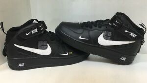 Details about NIKE AIR FORCE 1 MID 07 LV8 Utility High Cut Black Size US 11 EUR 45