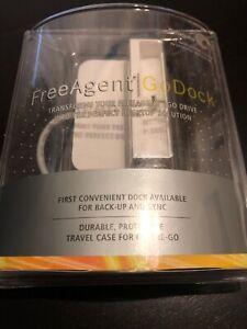 Seagate FreeAgent Go Dock White with Travel Case NEW (Windows XP/Vista)