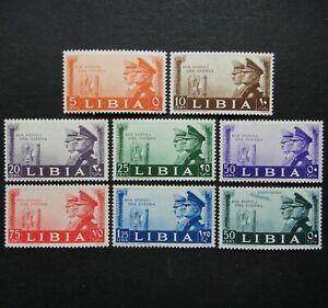 Germany Nazi LIBYA 1941 Stamps MNH Mussolini & Hitler Swastika Eagle WW2 Third R