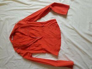 Ladies-Karen-Millen-Grade-B-Orange-Rouge-Chemise-a-manches-longues-Taille-12