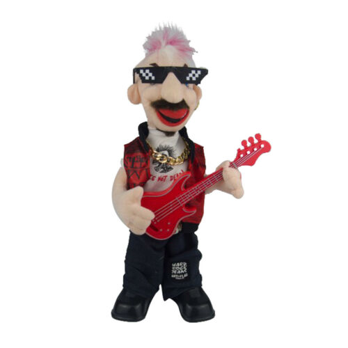Electric Plush Toy Punk Bass Man Figure Doll Kids Toys Creative Gifts