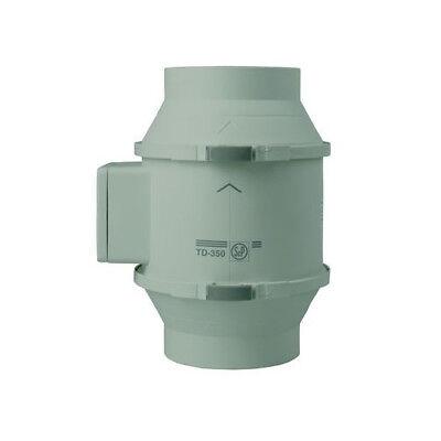 LiebenswüRdig Rohrventilator S&p Td 350/125 Halbradial 350m3 Für 125mm Rohr Lüfter Schnelle WäRmeableitung