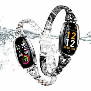 Women-039-s-Waterproof-Smart-Bracelet-Wrist-Watch-Heart-Rate-Monitor-for-Android-iOS
