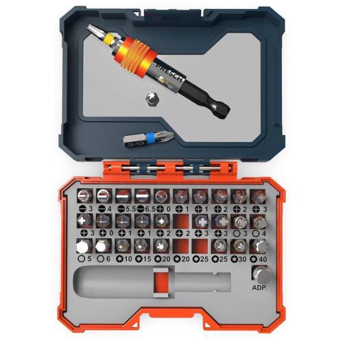 PRESCH Bitsatz 32tlgBit Box Schrauberbit Satz mit magnetischem Bithalter