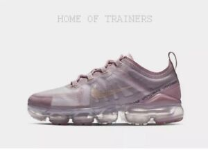 huge discount 875a6 368b2 Details about Nike Air VaporMax 2019 Light Pink Girls Women's Trainers All  Sizes