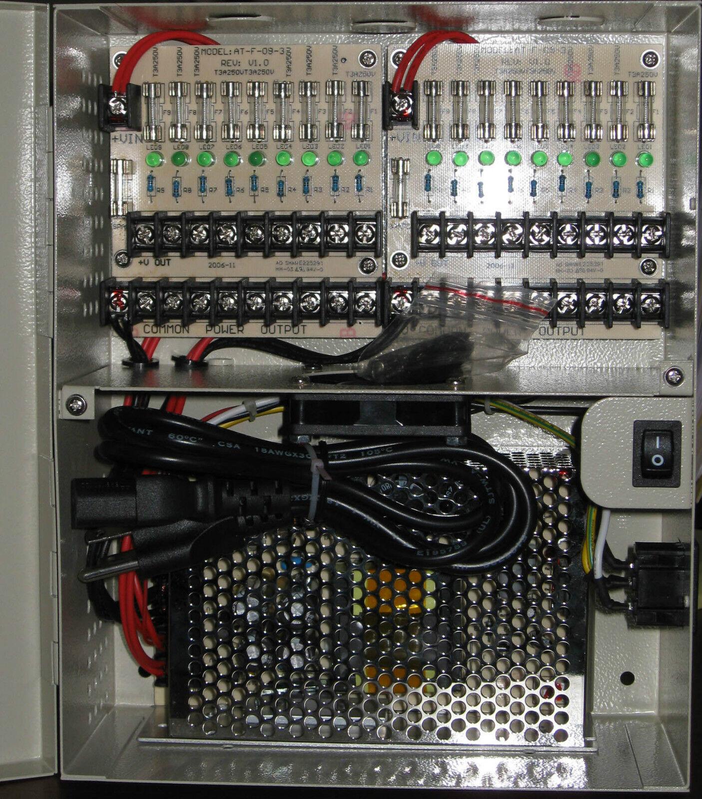18 Canaux Vidéo Caméra Sécurité CCTV 12 Volts Alimentation Électrique Boîte 12v