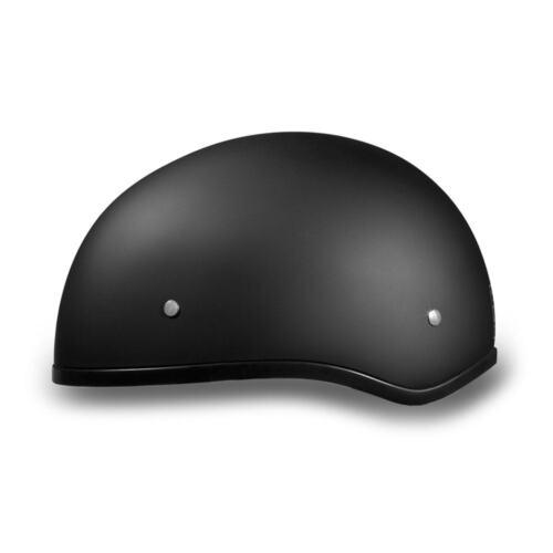 Dull Black Motorcycle DOT Helmet D1-BNS Daytona Helmets Skull Cap W//O Visor